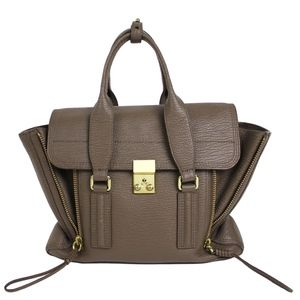 3.1 Phillip Lim Gray Taupe Leather Satchel Purse